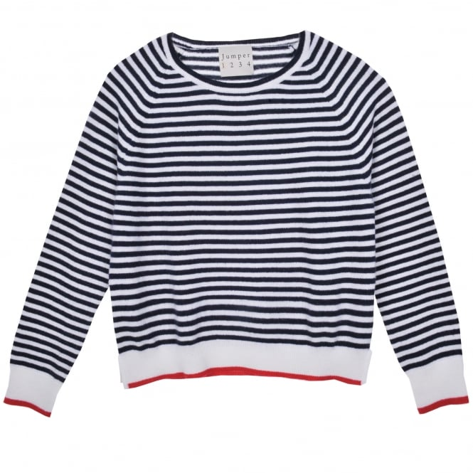Jumper 1234 Tipped Narrow Crew Neck Stripe Sweater