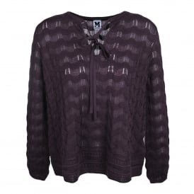 Aubergine Knitted Top