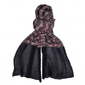 Black & Pink Lurex Scarf