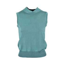 M Missoni Green Lurex Sleeveless Top