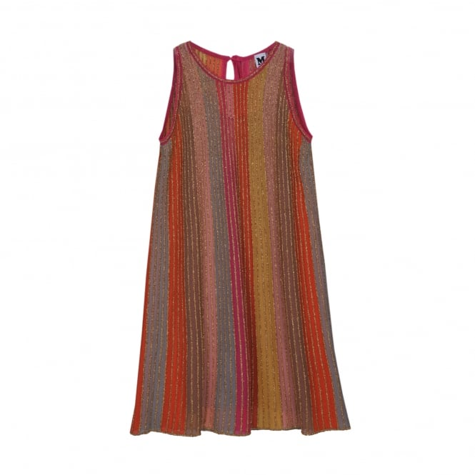 M Missoni Lurex Detail Pleat A-Line Dress