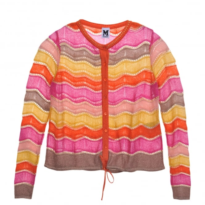 M Missoni Multi Colour Wave Knit Cardi