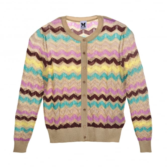 M Missoni Multi Coloured Wave Knit Cardi