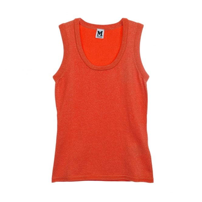 M Missoni Orange Lurex Sleeveless Top