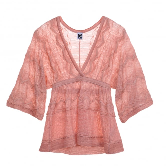 M Missoni Top in Baby Pink