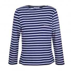 Amour Blue & White Long Sleeve Tee