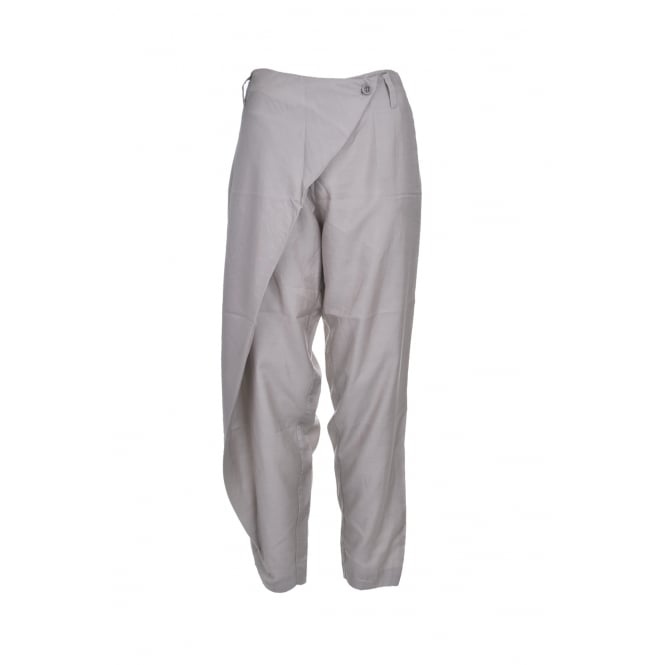 Malloni Cross Front Pant in Pearl