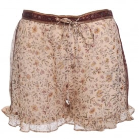 Ceylan Shorts in Floral Champagne