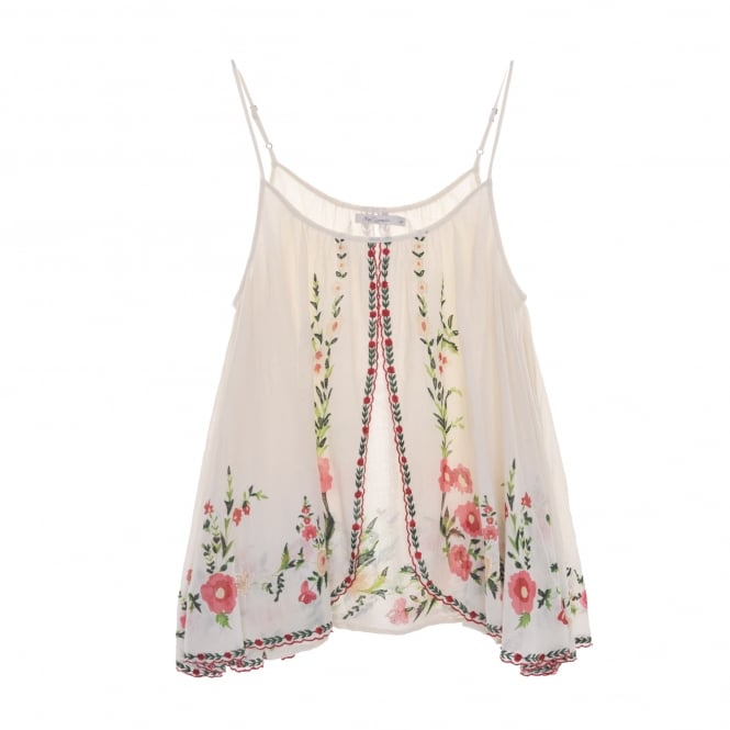Mes Demoiselles Josephine Strappy Embroidered Top