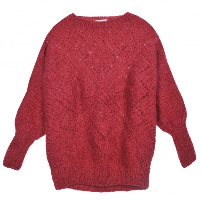 Mes Demoiselles Oley Knitted Sweater in Cherry