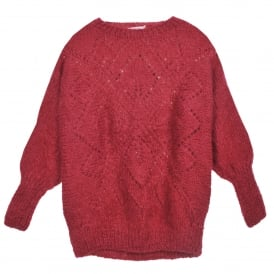 Oley Knitted Sweater in Cherry