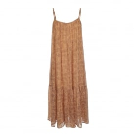 Sonate Dress in Nude Paisley