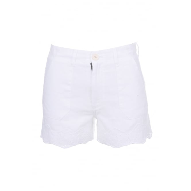 MIH Jeans Amas White Shorts