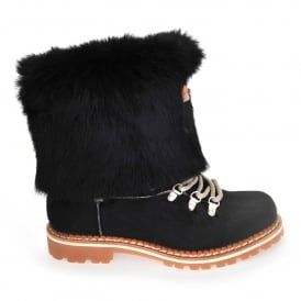 600 Boots in Black Calf Hair