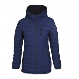 Rockcliffe Quilted Coat in Navy