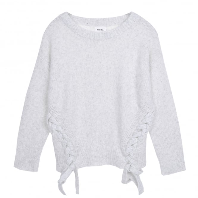 Not Shy Grey Crew Neck Cashmere Sweater
