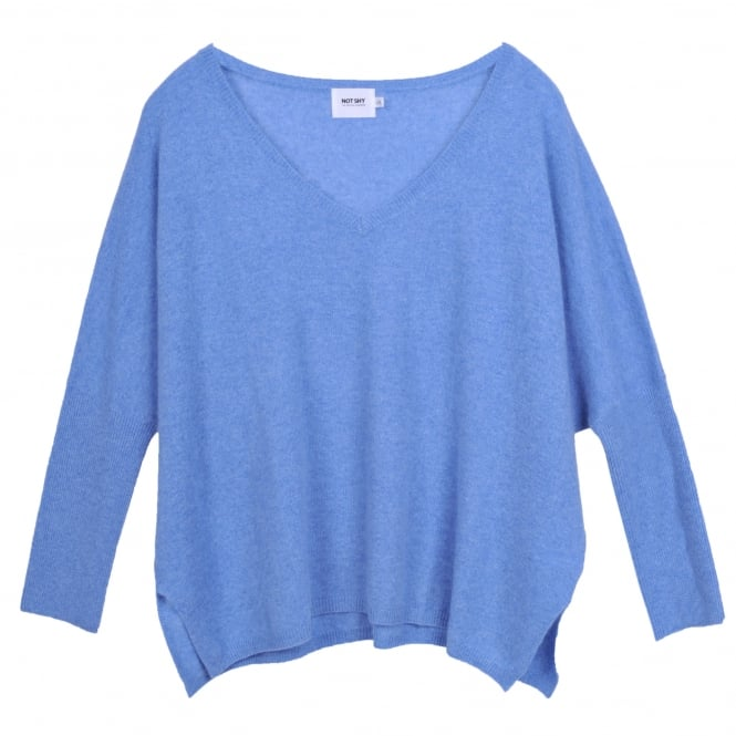 Not Shy V-Neck Poncho Style Cashmere Sweater