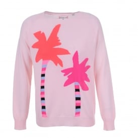 Palm Tree Sweater in Pink