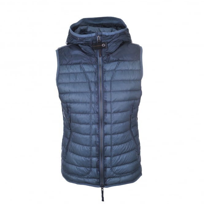 Parajumpers Angela Hooded Gilet in Asphalt
