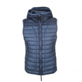 Angela Hooded Gilet in Asphalt