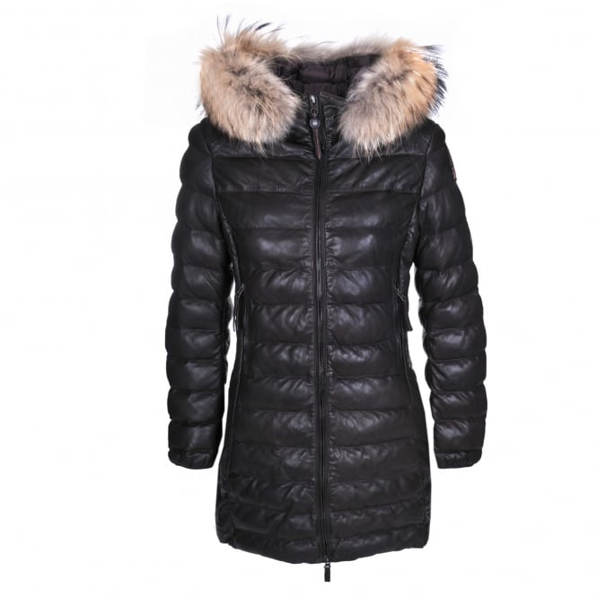 Parajumpers Demi Leather Quilted Jacket