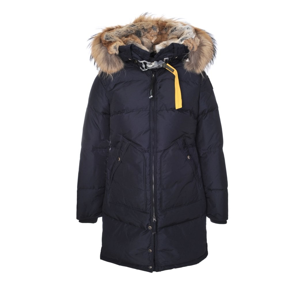 Long Bear Coat in Navy