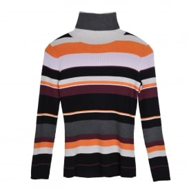Sigrid Stripe Roll Neck Sweater