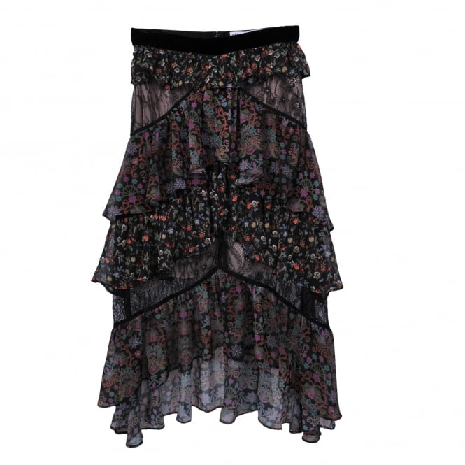 Perseverance London Mix Print Paisley Skirt