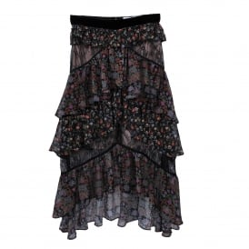 Mix Print Paisley Skirt