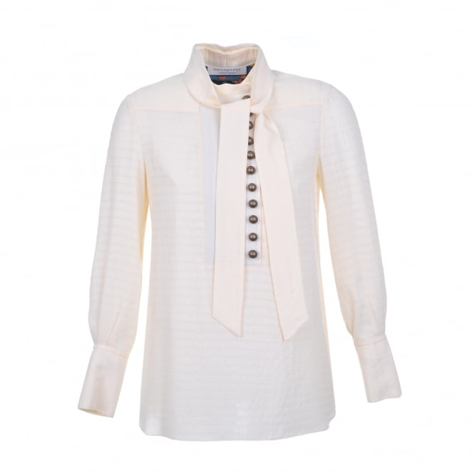 Philosophy Di Lorenzo Serafini Cream Button Detail Blouse