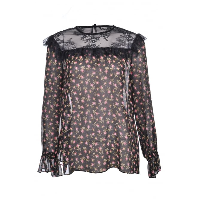 Philosophy Di Lorenzo Serafini Floral and Lace Blouse