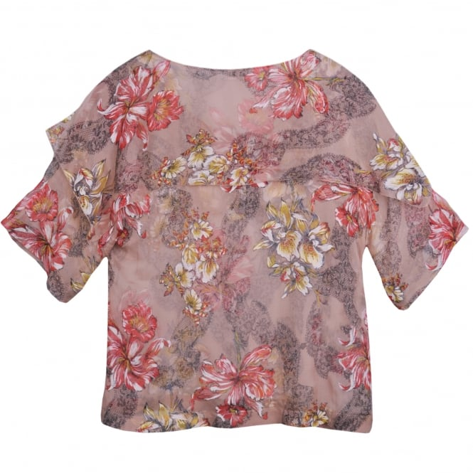 Philosophy Di Lorenzo Serafini Floral Silk-Chiffon Loose Fit Top