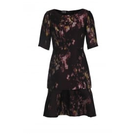 Philosophy di Alberta Ferretti Floral Tiered Dress