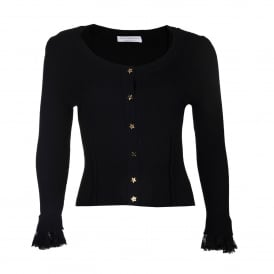 Slim Fit Star Button Cardi