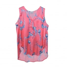 Blu Sleeveless in Jelly Print