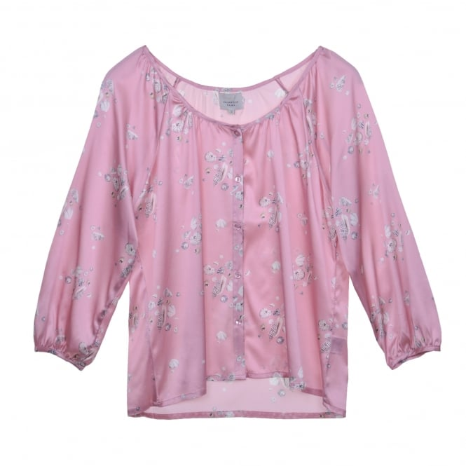 Primrose Park Katie Button Shirt in Sea Shell Pink