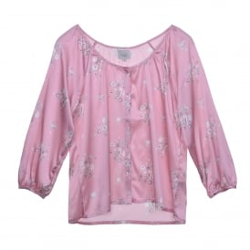 Katie Button Shirt in Sea Shell Pink