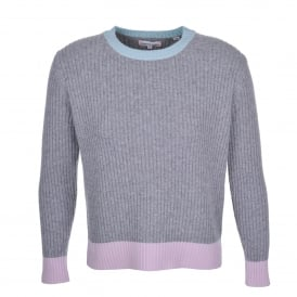Ribbed Block Sweater Grey