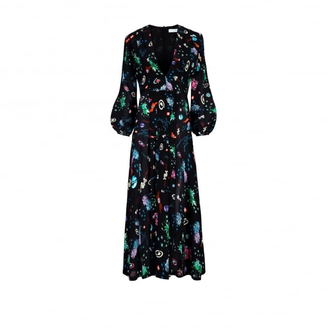 Rixo London Camellia Space Age Floral Dress