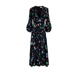 Camellia Space Age Floral Dress