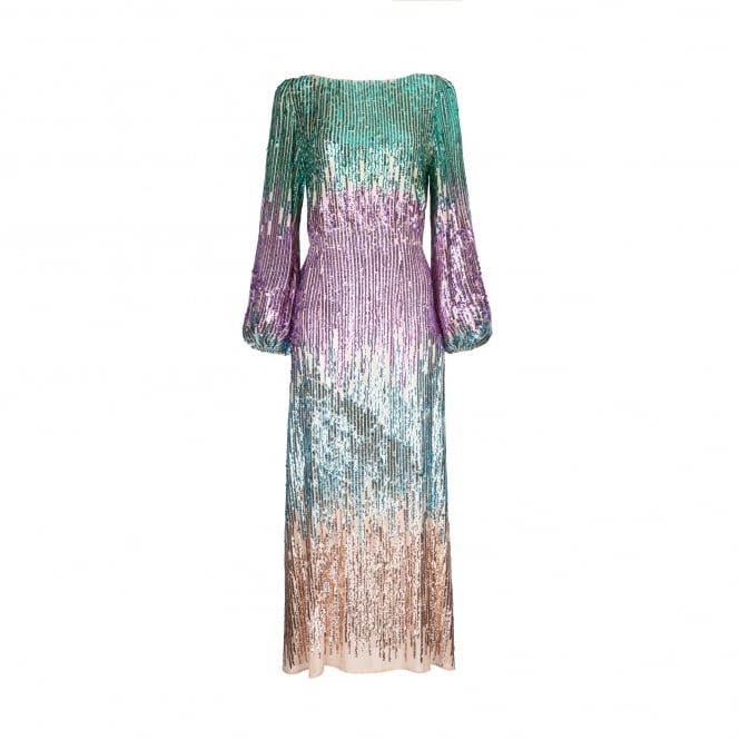 Rixo London Coco Multi Sequin Dress