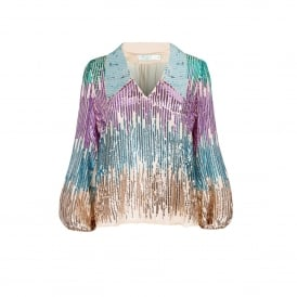 Lyla Multi Sequin Top