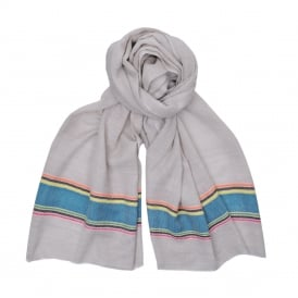 Sanya Scarf in Camel/Turquoise