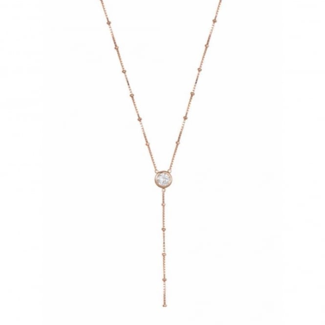 Rosie Fortescue Jewellery Rose Gold Dot Chain Necklace