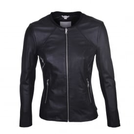 Rylee Leather Jacket in Black