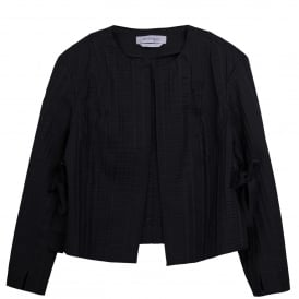 Ananas Collarless Black Jacket