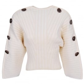 Nice Pebble Embellished Fan Sweater