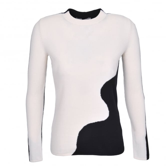 Sportmax Ordine Black & White Contour Top