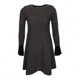 Ticino Fit & Flare Contrast Knit Dress