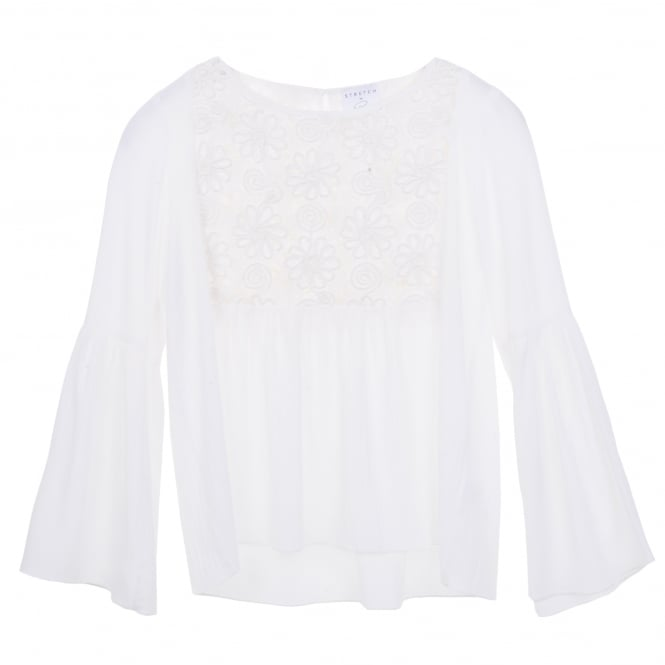 Stretch by Paulie Valeria Ruffle Sleeve Peasant Top